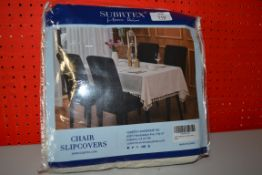 SUBRTEX IVORY CHAIR COVER SET