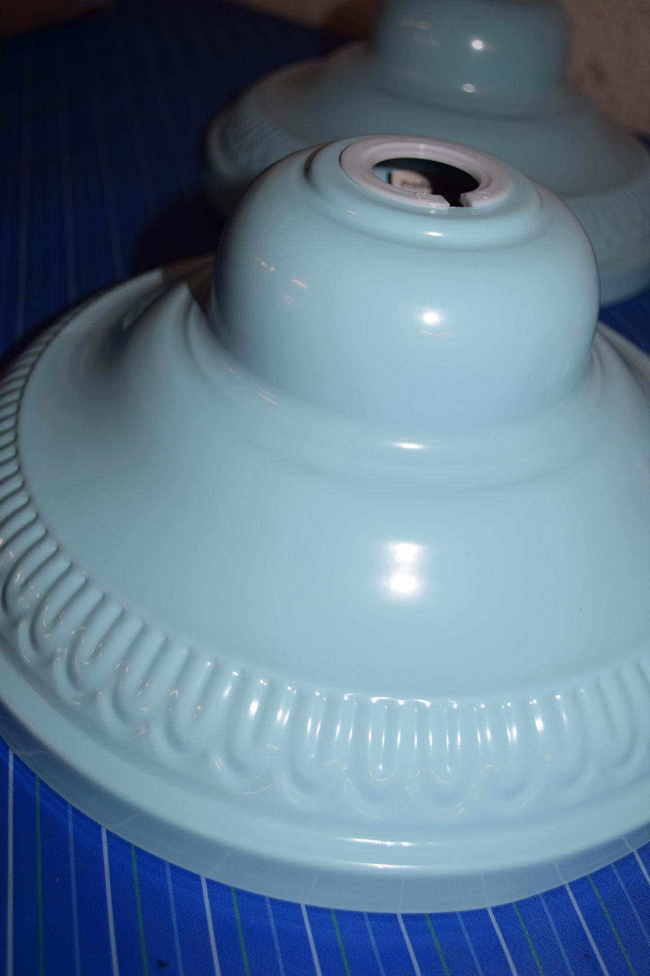 SET OF THREE 29CM PENDANT METAL LAMP SHADES - Image 2 of 2
