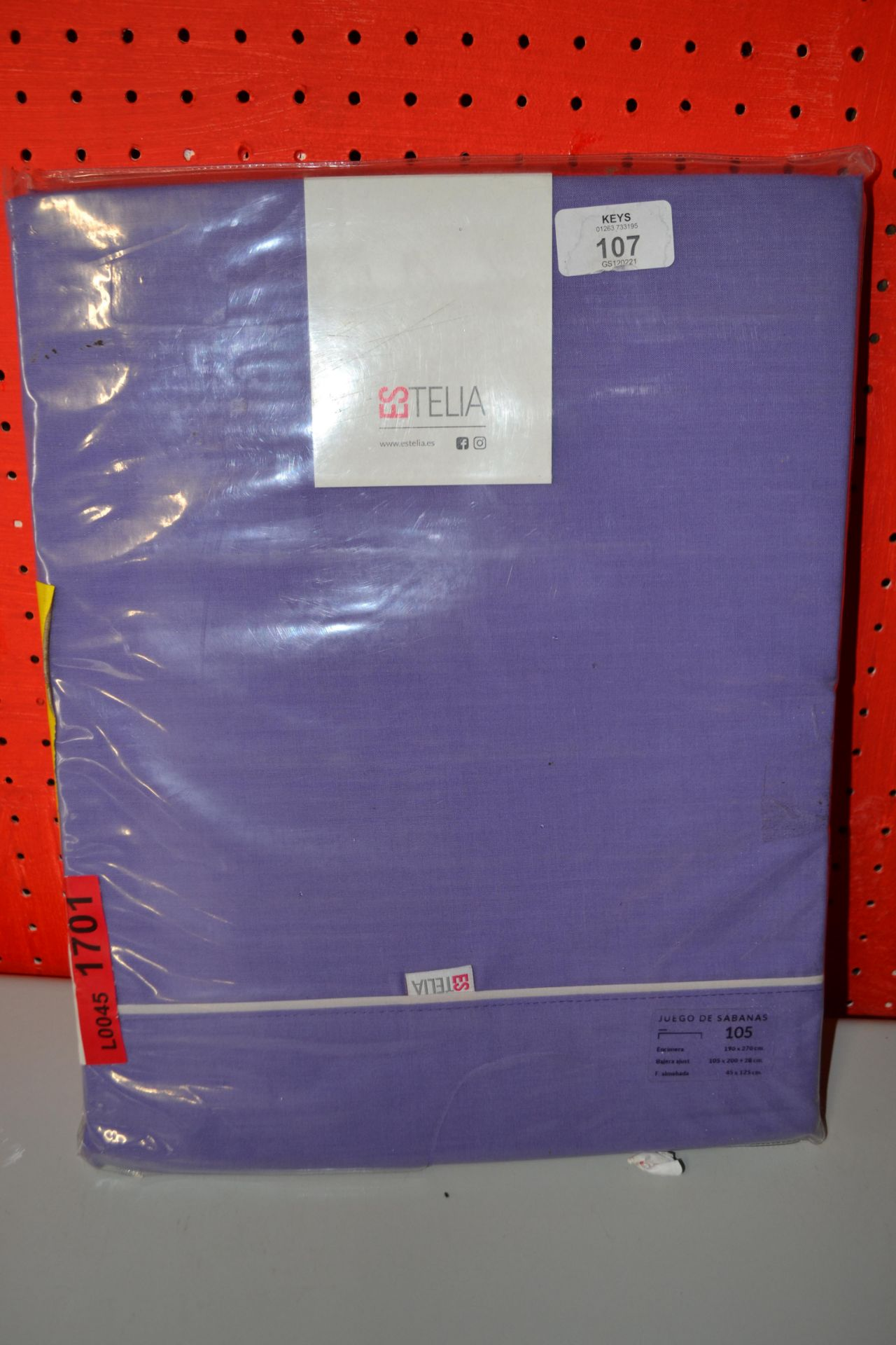 ESTELIA 105TC 105CM BED COVER SET