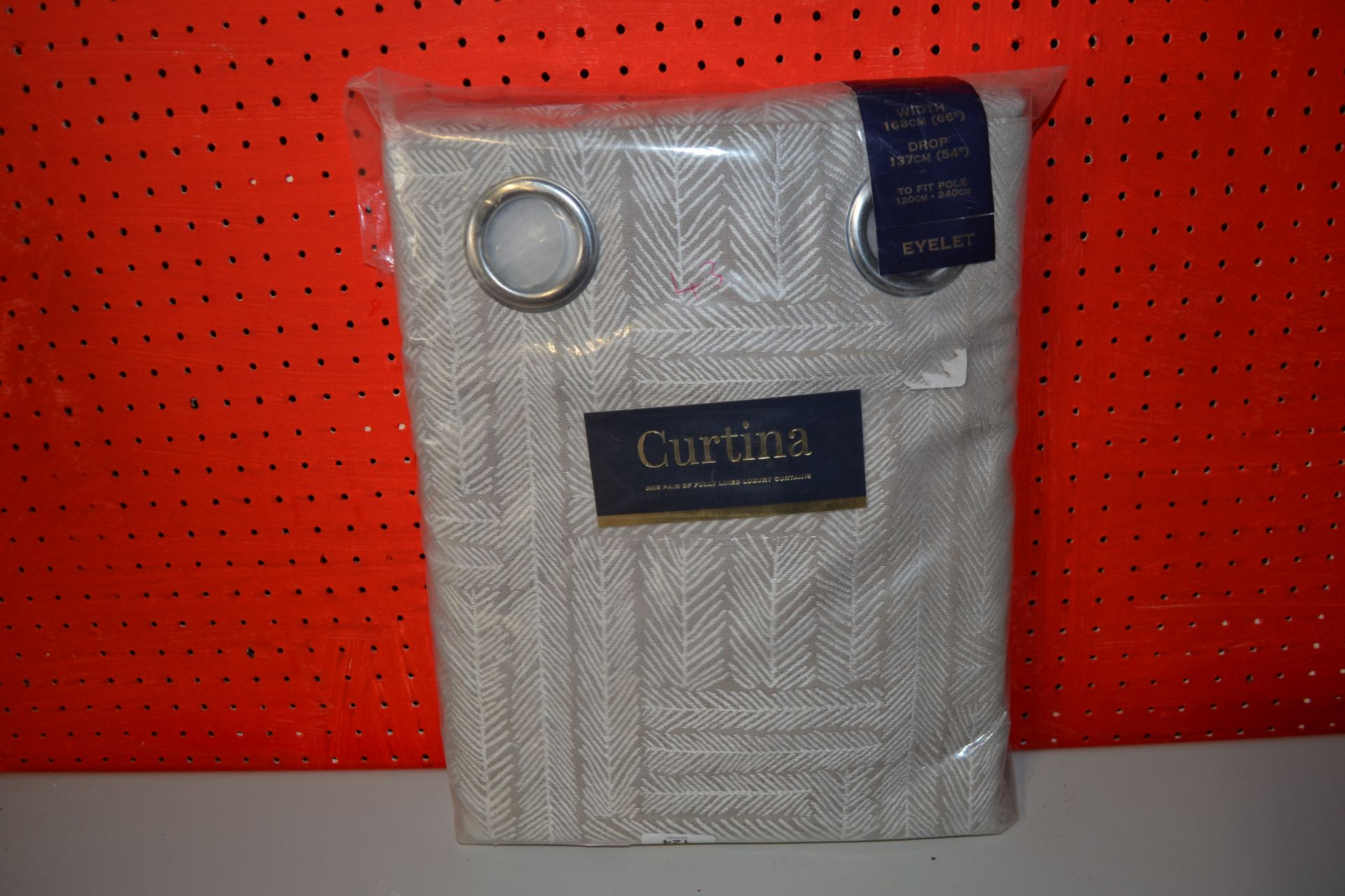 CURTINA PAIR OF LOWE LINED ISLET CURTAINS 66 X 54INCH