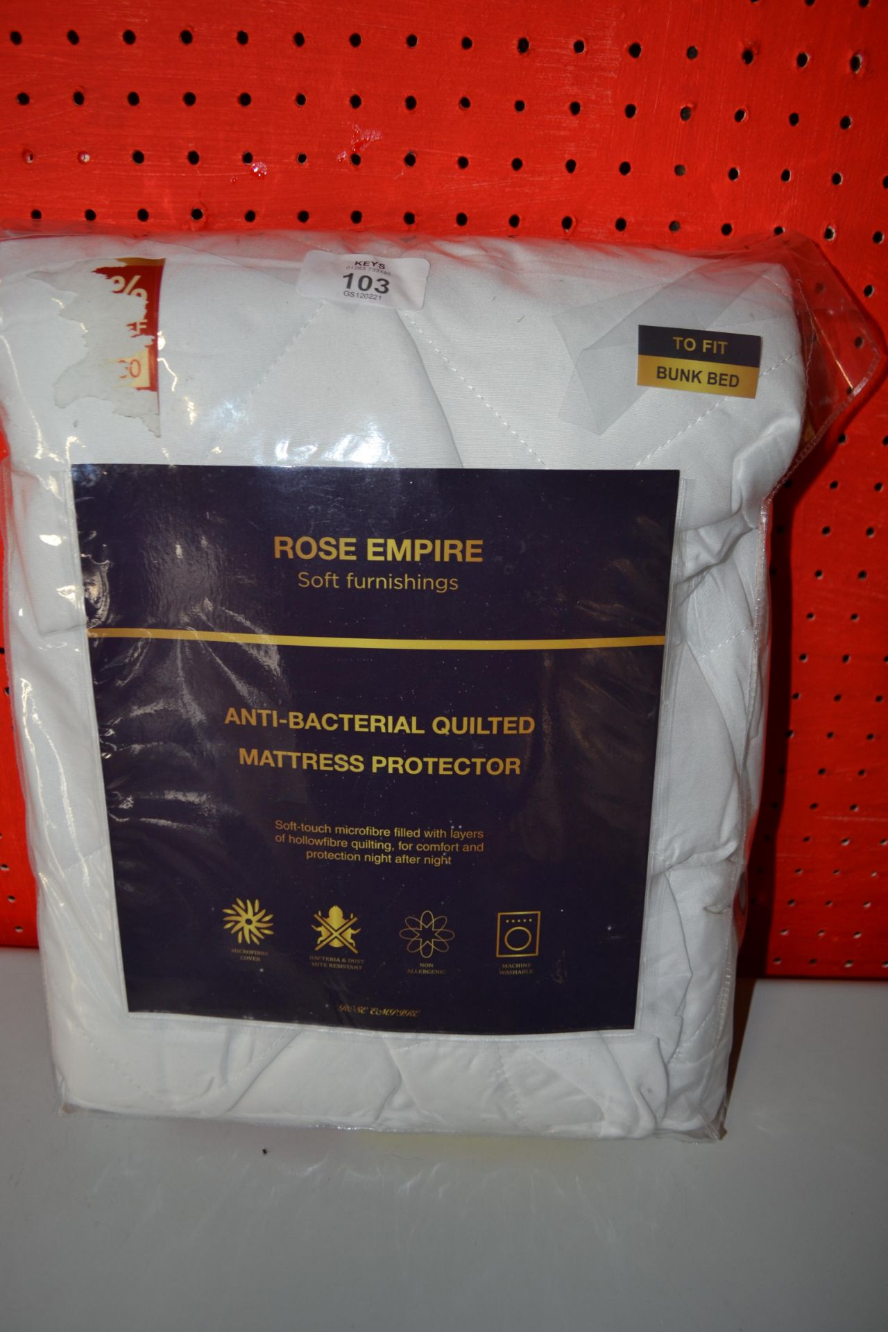 ROSE EMPIRE ANTI-BACTERIAL QUILTED MATTRESS PROTECTOR (BUNK BED)
