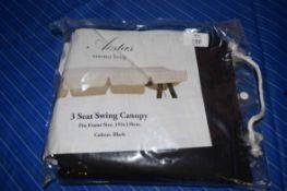 EASTAS THREE SEAT SWING CANOPY FABRIC IN BLACK