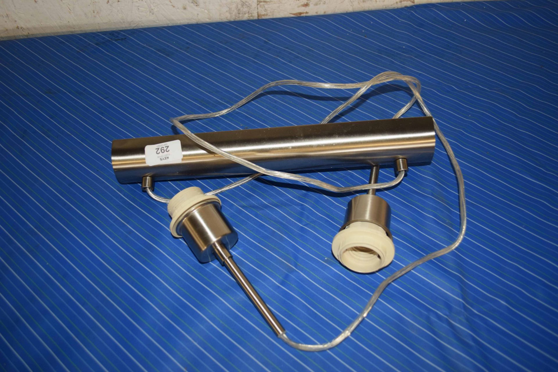TWO BULB SUSPENDED CEILING LIGHT FITTING, APPROX 30CM