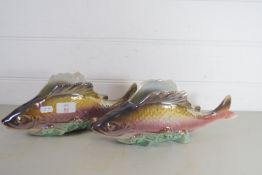 PAIR OF FRENCH OR BELGIAN MODELS OF FISH