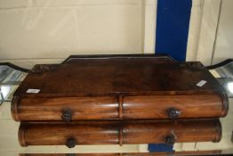 SMALL 19TH CENTURY MIRROR BASE, WIDTH APPROX 65CM