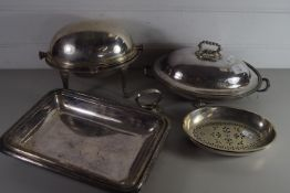 PLATED SERVING TUREENS AND DISHES