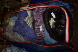 BAG CONTAINING FABRICS AND CLOTHES