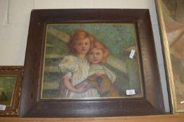 PRINT OF TWO GIRLS