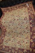 FLORAL DECORATED RUG, APPROX 128 X 200CM