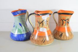 THREE ART DECO JUGS BY MYOTT
