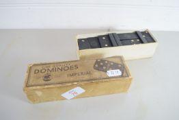 VINTAGE BOX OF DOMINOES