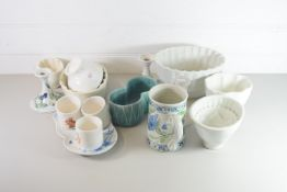 CERAMICS, MAINLY KITCHEN WARES, JELLY MOULDS ETC