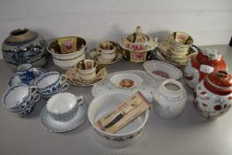 CERAMICS, CUPS AND SAUCERS, BOOTHS WORCESTER STYLE