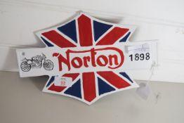 NORTON MOTORCYCLE METAL SIGN