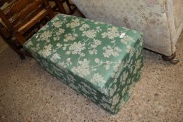 UPHOLSTERED OTTOMAN, APPROX 78 X 43CM