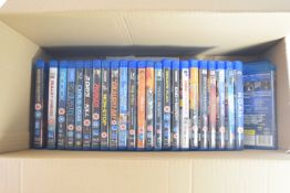 BOX CONTAINING DVDS