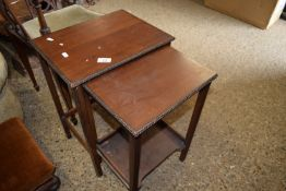 NEST OF TWO SMALL OCCASIONAL TABLES, THE LARGER WIDTH APPROX 38CM