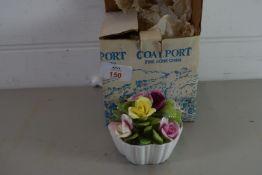 COALPORT CERAMIC MODEL OF FLOWERS