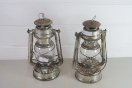 TWO SMALL OIL LAMPS