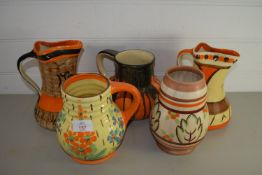 ART DECO JUGS BY MYOTT AND OTHERS