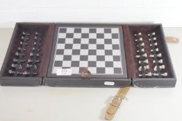 CHESS BOARD WITH TWO SETS OF PIECES