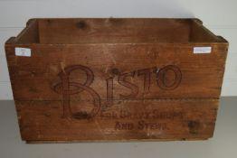 LARGE BISTO GRAVY WOODEN BOX