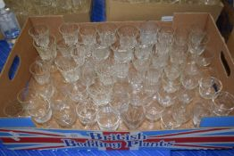 THREE BOXES OF GLASS WARES