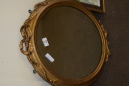 OVAL MIRROR IN GILT EFFECT FRAME