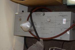 BOX CONTAINING GAS MEASURING MACHINE