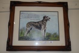 FRAMED ADVERTISING PICTURE FOR PHOENIX HOUND MEAL