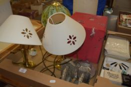 BOX CONTAINING TABLE LAMPS AND SHADES