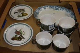PORTMEIRION PLATES, BIRDS AND OTHER ITEMS