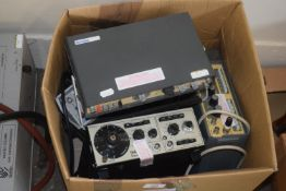BOX CONTAINING VARIOUS MEASURING EQUIPMENT