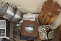 TRAY CONTAINING VARIOUS TINS