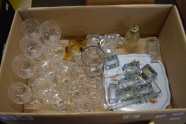 BOX CONTAINING GLASS WARES