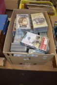 BOX CONTAINING OLD VHS VIDEOS