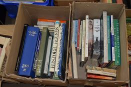 BOX OF MIXED BOOKS, HISTORIC HOUSES, GREAT HOUSES OF THE WESTERN WORLD ETC PLUS A FURTHER BOX OF