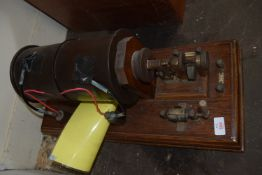 ELECTRICAL MOTOR MOUNTED ON WOODEN FRAME