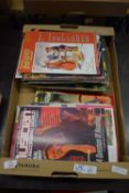 BOX CONTAINING MAGAZINES, PICTURE POSTCARD MONTHLY VARIOUS EDITIONS