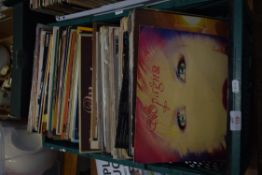 BOX CONTAINING LPS, MAINLY POP MUSIC, VARIOUS ARTISTS, JIM REEVES, TAMMY WYNETTE ETC