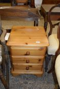 SMALL PINE BEDSIDE CHEST, APPROX 44CM
