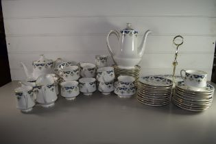 QUANTITY OF TEA WARES BY PARAGON IN THE CONISTON PATTERN COMPRISING CUPS, SAUCERS, TEA POT, COFFEE