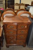 REPRODUCTION TV CABINET WITH FAUX DRAWERS, WIDTH APPROX 62CM