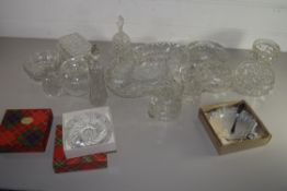 GLASS WARES, JUGS, SMALL BOWLS ETC