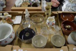 GLASS WARES AND STUDIO POTTERY BOWLS