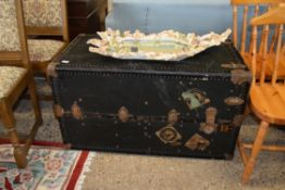 LARGE TRAVELLING TRUNK APPROX 105 X 58CM