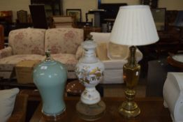 THREE VARIOUS TABLE LAMP BASES