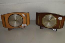 TWO METAMEC MANTEL CLOCKS