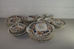 DINNER WARES BY BOOTHS IN THE DUGDALE PATTERN