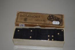 BOXED VINTAGE SET OF DOMINOES BY IMPERIAL